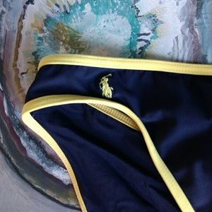 Ralph Lauren Sport navy bikini bottom.